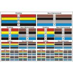 Harmonised Label Colour Sheet - SAV (184 labels various sizes)