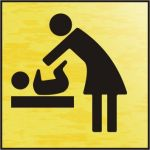 Baby changing symbol - BRG (120 x 122mm)