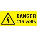 Danger 415 volts - SAV (49 x 20mm, sheet of 56 labels)