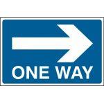 One way arrow right - FMX (600 x 400mm)