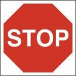 Stop - FMX (400 x 400mm)