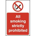 All smoking strictly prohibited - RPVC (400 x 600mm)