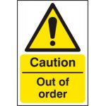 Caution Out of order - RPVC (400 x 600mm)