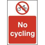 No cycling - RPVC (400 x 600mm)