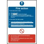 Fire action procedure - SAV (400 x 600mm)