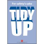 RoSPA Safety Poster - For safetys sake Tidy Up (Laminated)