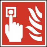 Fire alarm call point symbol - RPVC (200 x 200mm)