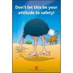 RoSPA Safety Poster - Dont let this be your attitude to safety (Paper)