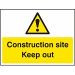 Construction site Keep out - RPVC (600 x 450mm)