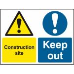 Construction site Keep out - Correx (600 x 450mm)