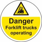 400mm dia. Danger Forklift trucks Floor Graphic