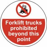 400mm dia. Forklift trucks prohibited beyond Floor Graphic