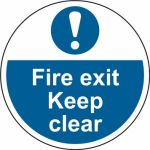 400mm dia. Fire Exit Keep Clear Floor Graphic