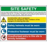 Site Safety Composite - RPVC (800 x 600mm)