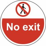 400mm dia. No exit Floor Graphic