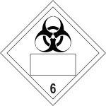 Biohazard 6 Symbol - SAV Placard (250 x 250mm)