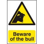 Beware of the bull - Corex (200 x 300mm)