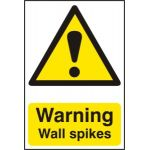 Warning Wall Spikes - PVC (200 x 300mm)