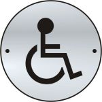 Disabled graphic door disc - SSS (75mm dia.)