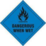 Dangerous When Wet - SAV Diamond (100 x 100mm)