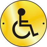 Disabled graphic door disc - PB (75mm dia.)