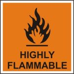 Highly Flammable - SAV (150 x 150mm)