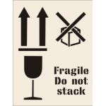 Fragile do not stack Stencil (400 x 600mm)